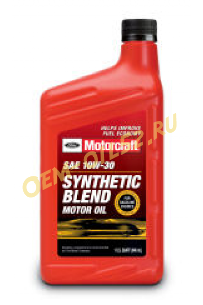 Motorcraft sae 10w 30 synthetic blend motor for Motorcraft synthetic blend motor oil